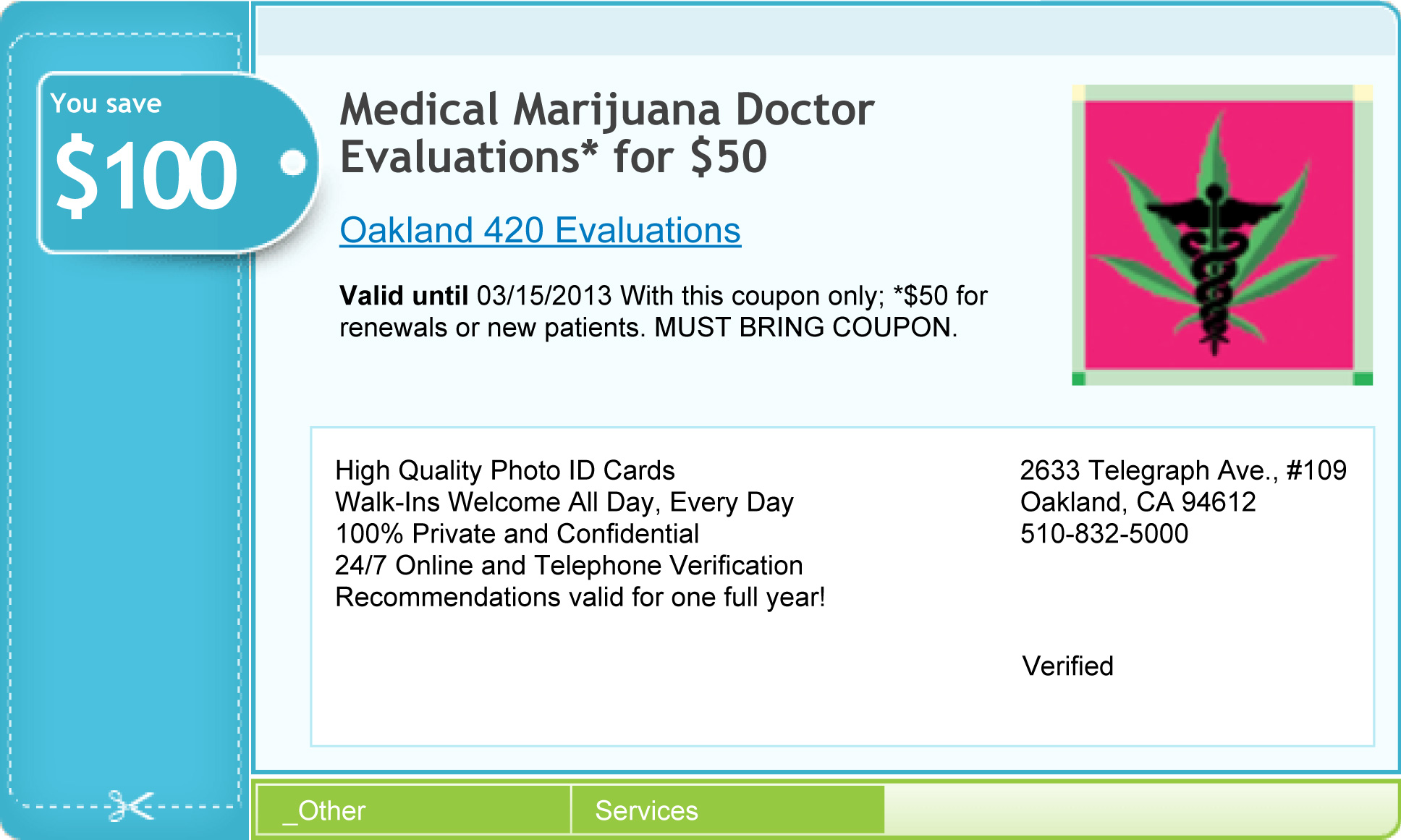 420 med evaluations coupon