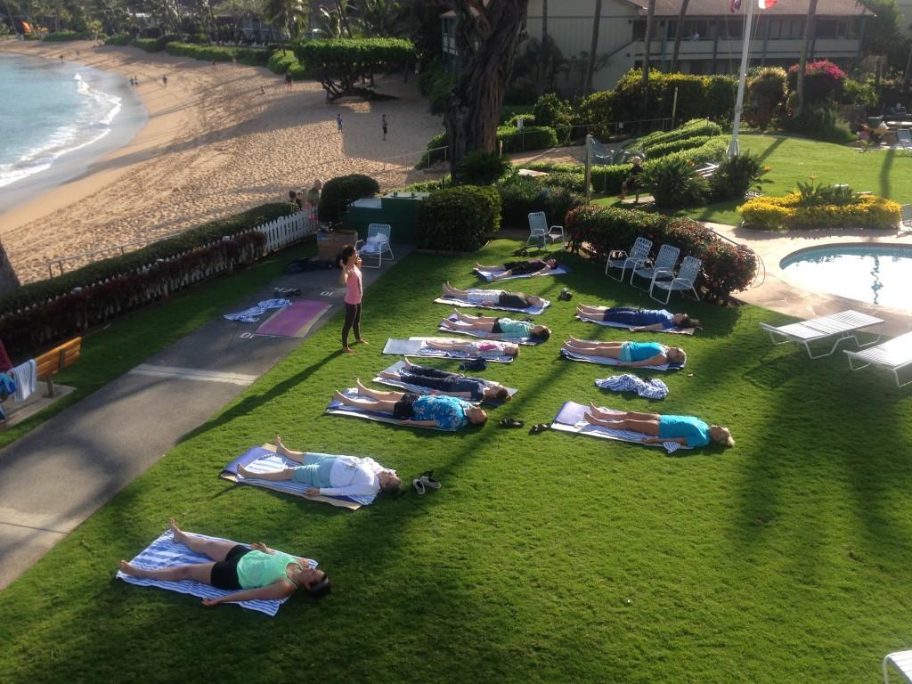 Yoga At Napili Surf